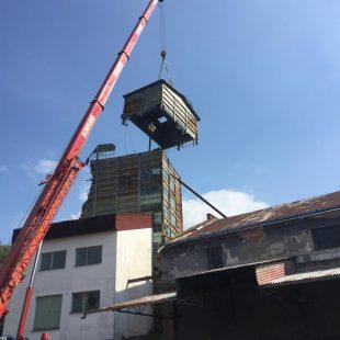 Demolice sila Lázně Bohdaneč výška 25m